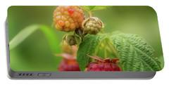 Raspberries Portable Battery Charger by Gabriela Neumeier