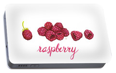 Portable Battery Charger featuring the painting Raspberry by Cindy Garber Iverson