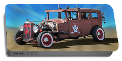 Portable Battery Charger featuring the photograph Rat Rod On Beach 3 by Mike McGlothlen