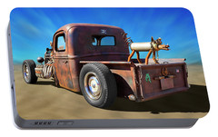 Portable Battery Charger featuring the photograph Rat Truck On Beach 2 by Mike McGlothlen