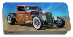 Portable Battery Charger featuring the photograph Rat Truck On The Beach by Mike McGlothlen