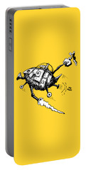 Rats In Space Portable Battery Charger by Kim Gauge