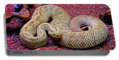 Rattlesnake In Abstract Portable Battery Charger