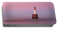 Rattray Head Lighthouse At Sunset - Pink Sunset Portable Battery Charger