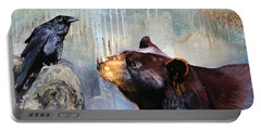 Raven And The Bear Portable Battery Charger