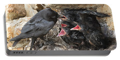 Raven Babies Breakfast Portable Battery Charger
