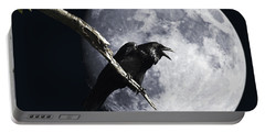 Raven Barking At The Moon Portable Battery Charger