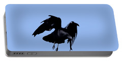 Raven Flight Portable Battery Charger by Deborah Moen