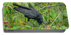 Raven In The Cherry Tree Portable Battery Charger