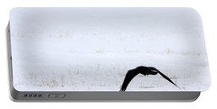 Raven In The Snow Portable Battery Charger