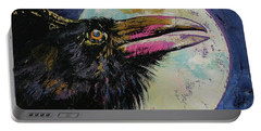 Raven Moon Portable Battery Charger by Michael Creese