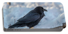 Portable Battery Charger featuring the photograph Raven by Paul Freidlund