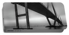 Ravenel Bridge November Fog Portable Battery Charger