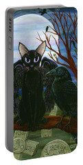 Raven's Moon Black Cat Crow Portable Battery Charger