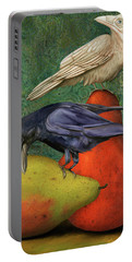 Ravens On Pears Portable Battery Charger