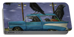 Ravens' Ride Portable Battery Charger by Leah Saulnier The Painting Maniac