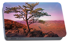 Portable Battery Charger featuring the photograph Raven's Roost Overlook by Suzanne Stout