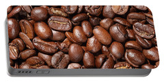 Raw Coffee Beans Background Portable Battery Charger