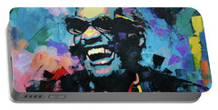Portable Battery Charger featuring the painting Ray Charles by Richard Day