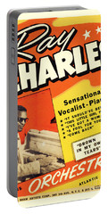 Ray Charles Rock N Roll Concert Poster 1950s Portable Battery Charger