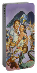 Ray Harryhausen Tribute Seventh Voyage Of Sinbad Portable Battery Charger by Bryan Bustard