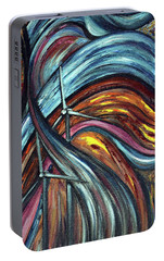Portable Battery Charger featuring the painting Ray Of Hope 2 by Harsh Malik