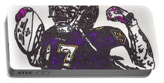 Portable Battery Charger featuring the drawing Ray Rice 1 by Jeremiah Colley