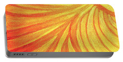 Rays Of Healing Light Portable Battery Charger by Rachel Hannah