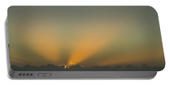 Rays Of Hope At Sunrise Delray Beach Florida Portable Battery Charger