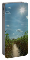 Portable Battery Charger featuring the photograph Rays Of Hope by Karen Wiles