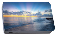 Portable Battery Charger featuring the photograph Rays Over The Reef by Debra and Dave Vanderlaan