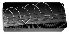 Razor Wire In The Sun Portable Battery Charger