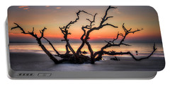 Portable Battery Charger featuring the photograph Reaching Driftwood Beach Sunrise Jekyll Island Georgia Art by Reid Callaway