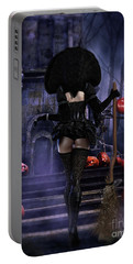 Ready Boys Halloween Witch Portable Battery Charger by Shanina Conway