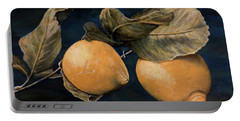 Portable Battery Charger featuring the painting Ready For Picking by Judy Kirouac