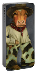 Real Cowboy 2 Portable Battery Charger by Leah Saulnier The Painting Maniac