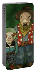Real Cowboys 3 Portable Battery Charger by Leah Saulnier The Painting Maniac