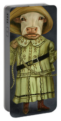 Real Cowgirl 2 Portable Battery Charger by Leah Saulnier The Painting Maniac