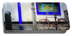 Portable Battery Charger featuring the photograph Real Hamburgers Bicycle by Craig J Satterlee