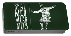 Real Men Wear Kilts Portable Battery Charger by Heather Applegate