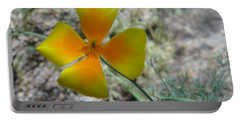 One Gold Flower Living Life In The Desert Portable Battery Charger