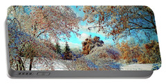 Portable Battery Charger featuring the photograph Realm Of The Ice Queen by Rodney Campbell