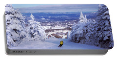 Rear View Of A Person Skiing, Stratton Portable Battery Charger