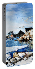 Portable Battery Charger featuring the painting Reason To Believe by Hanne Lore Koehler