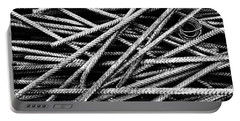 Rebar And Spring - Industrial Abstract  Portable Battery Charger