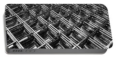 Rebar On Rebar - Industrial Abstract Portable Battery Charger