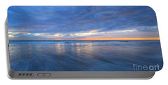 Portable Battery Charger featuring the photograph Receding Waves Oceanside by John F Tsumas