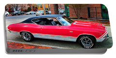 Red 68-69 Chevelle Ss 396 Portable Battery Charger
