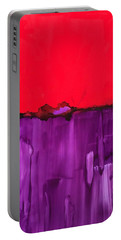 Red Above Purple Portable Battery Charger