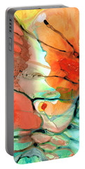 Red Abstract Art - Decadence - Sharon Cummings Portable Battery Charger